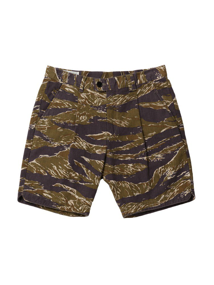 """NAIVE"" MILITARY SHORT SLACKS - TIGER STRIPE CAMO"