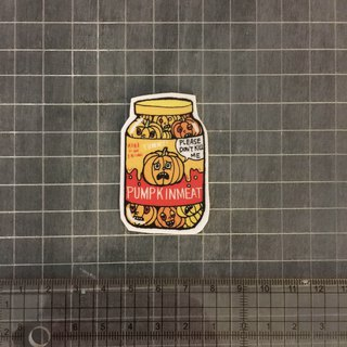 Pumpkin canned sticker