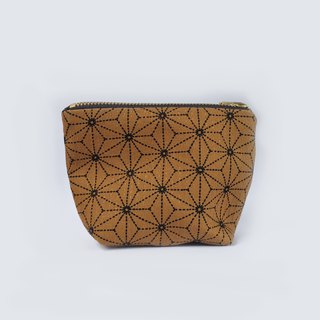 小钱包 Asanoha Coin Purse Small Zipper Pouch - Japanese Cotton