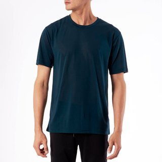 Copper ammonia comfortable round neck Tee - dark green