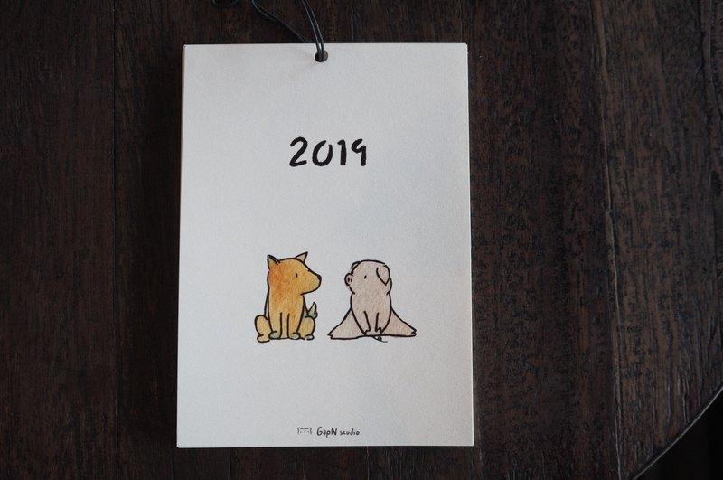 2019 calendar year of pig and bear