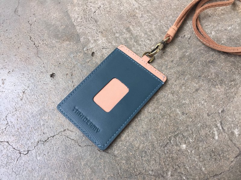 Leather ID Case - Blue