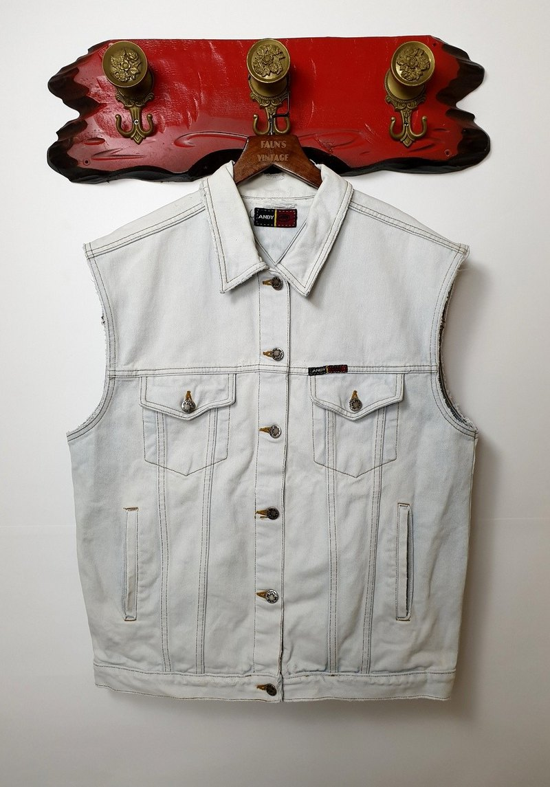 Little Turtle Gege - Light Blue White Destruction Denning Vest