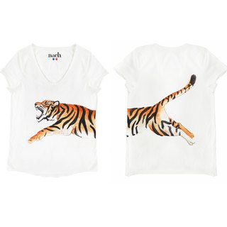 Jumping Tiger Tee Shirt Tiger