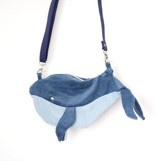 Unhappy Little Whale handmade backpack