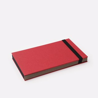 Three summer light years classic solid color strap books section DIY album creative gifts small rectangular (red)