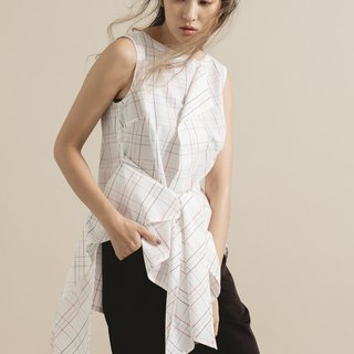 Tie lattice vest