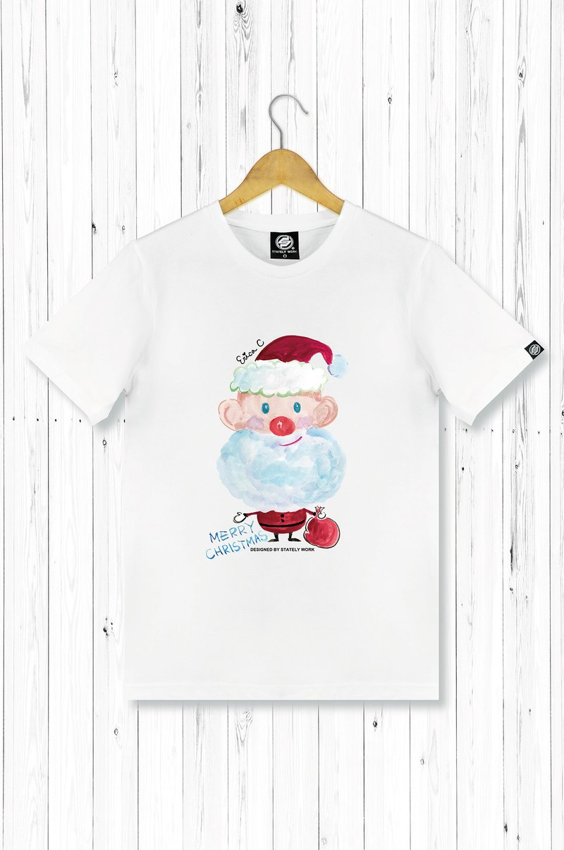 STATELYWORK Santa Claus Hand Painted T-Men's Wear