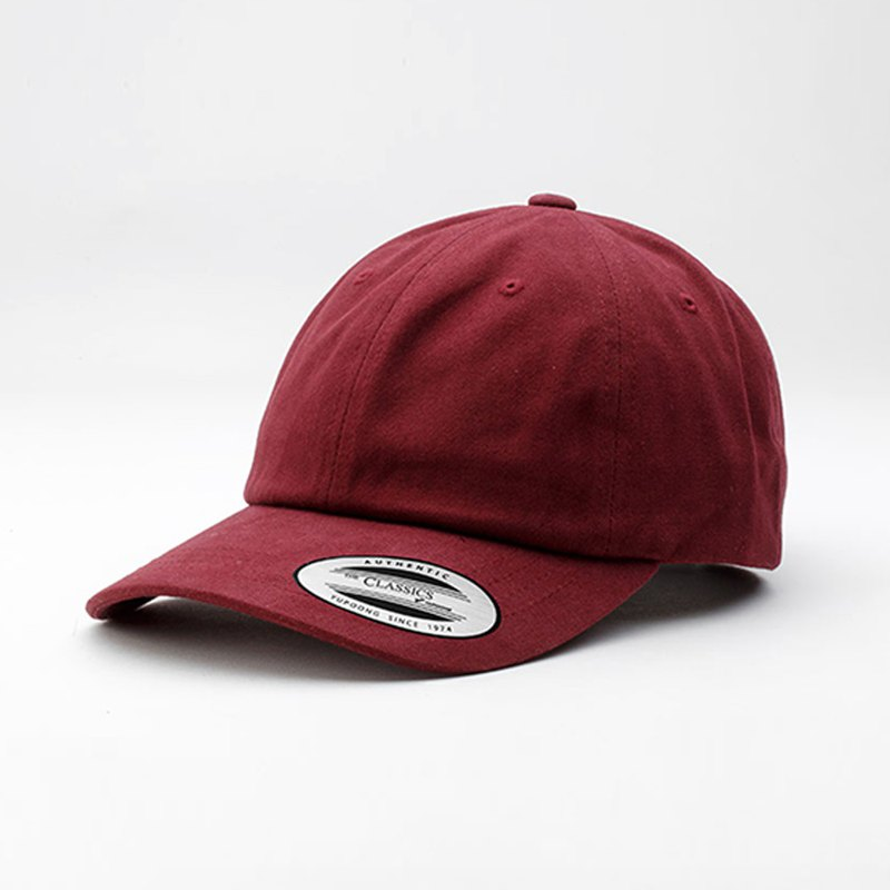 Low Profile Peached Cotton Twill Dad Cap ::Maroon::