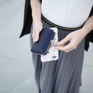 Classic coin : Mini wallet, Leather wallet, Navy wallet, Zip wallet