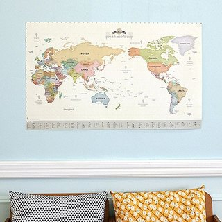 World Map Poster (Panel)-02 Pastel Edition (Limited Delivery), IDG70343
