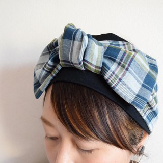 Ribbon hairband colorful Check pettern x pettern