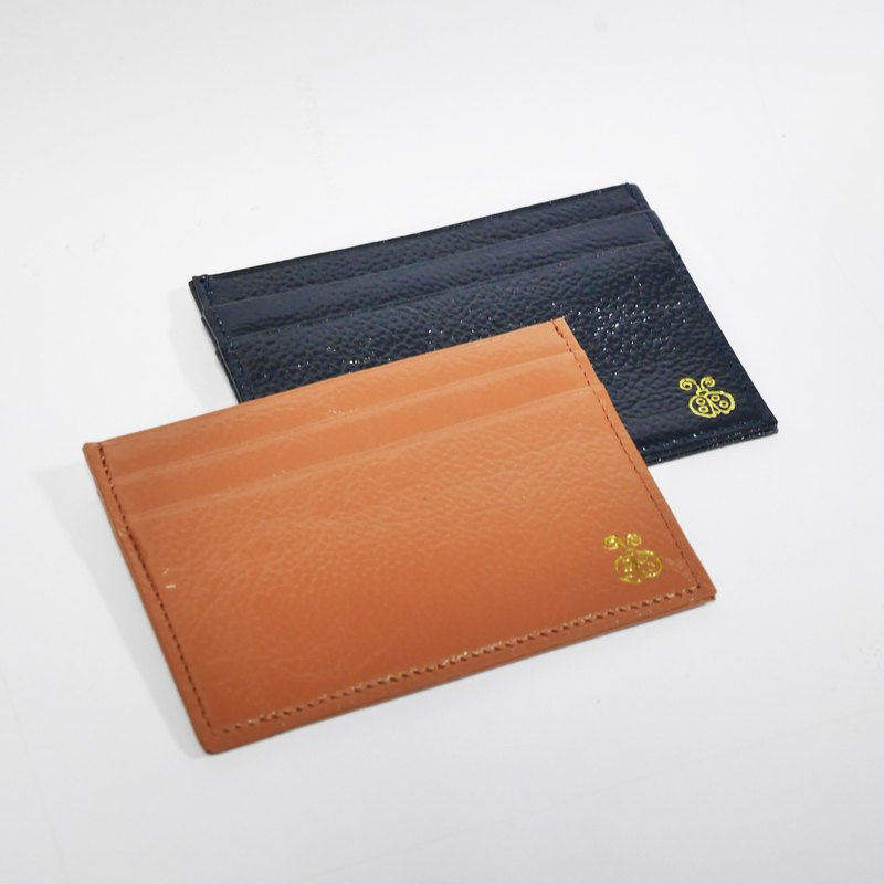 Leather Card Holder - Ladybug genuine leather