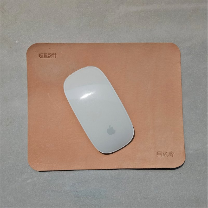 [A word lead gold] Customized - (4 into concessions) vegetable tanned leather color mouse pad