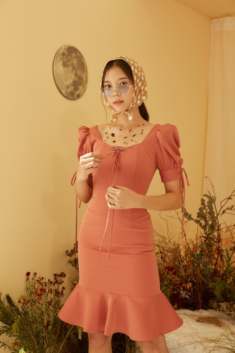 Exclusive Andrea dress - Orange for Pinkoi only