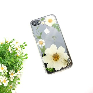 Elegant Snowy White Real flower phone case - for iphone 5/5s/SE/6/6s/6 plus/6s plus/7/7plus/Samsung S4/S5/S6/S6Edge/S7/S7Edge/Note3/Note4/Note5