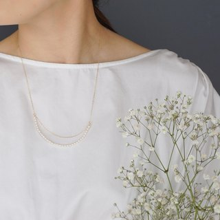 【14KGF】 Freshwater Pearl Design Necklace