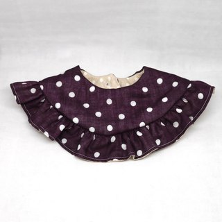 Japanese Handmade 8-layer-gauze frill 360 circle bib