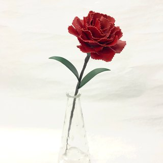Red Leather Carnation