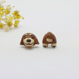 Chicken dog single earrings (ear needles / ear clip) | Hand | Animals | Accessories | Ornaments |