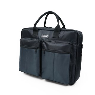 Matchwood Design Matchwood Promotion Briefcase Business Briefcase Pen Messenger Bag Waterproof Bag Black and gray