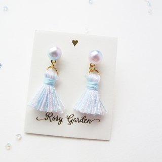 Rosy Garden pantone colour tassel with pearl earrings