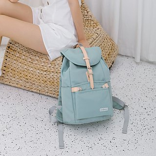 [Spot Flash Discount] Girls Backpack Waterproof Travel Bag Havana - Mint Green