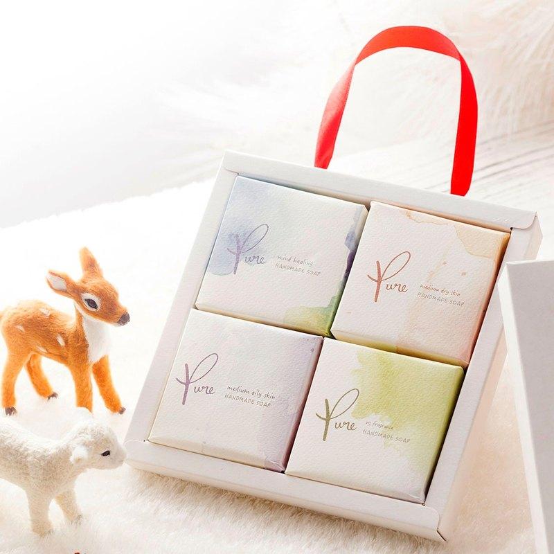 Pure純粹手工皂-4入禮盒(送禮、春節、情人節)