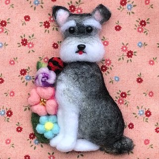 Schnauzer - hand-made wool felt pins