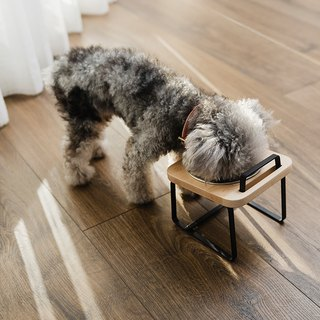 [Patting] Log Pet Holder High Bowl XS / Maple Color