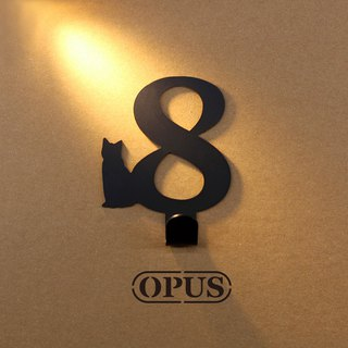 [OPUS Dongqi Metalworking] When the cat meets the number 8 - hook (black) / wall hanging hook / storage without trace