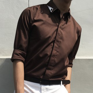 Brown long-sleeved shirt