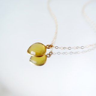 14KGF/ SWEET YELLOW CHALCEDONY NECKLACE