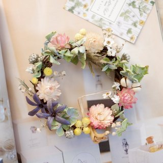 Unfinished | Small Garden Mini Garden Dry Flower Wreath Shooting Props Wall Decoration Gifts Gifts Gifts Layout Office Small Objects Hydrangea Home Spot