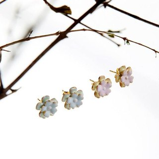 Pastel Flower Stud Earrings, Flower Stud Earrings, Flower Earrings, Flower Studs