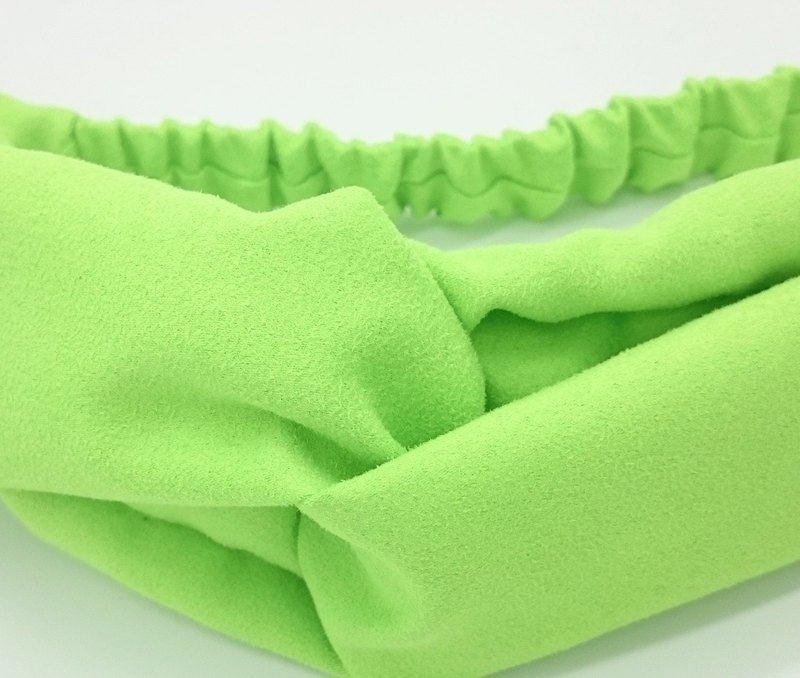 Suede fluorescent green cross hair band hairband*SK*
