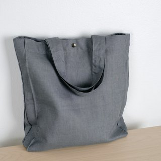 Casual Linen Tote Bag (Dark Grey)