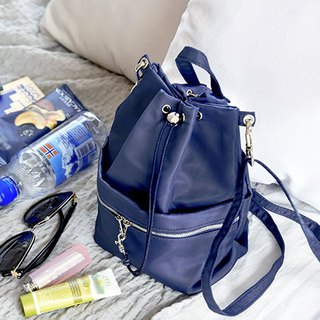 Beautiful Holiday Storage Bucket Bag - Navy Dark Blue, PPC94904
