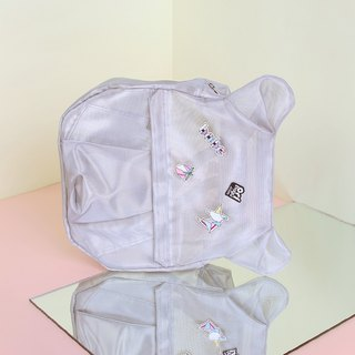 ORIBAGU Origami Bag_Silver Mesh Bear Backpack