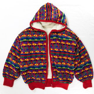 [3thclub Ming Ren Tang] Italian brand of high color spell color hooded cotton jacket shop MDI-003 hoodie vintage