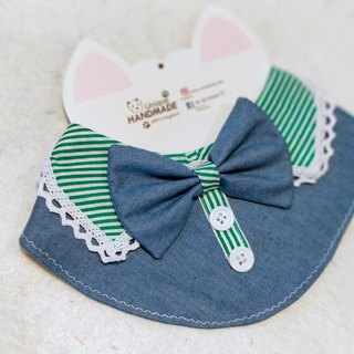 Denim shirt collar pet scarf / neckwear