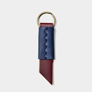 【Tasting Tickets】 Leather Key Ring Passenger Carving Letter When Gift Leather Key Ring Leather Key Charm