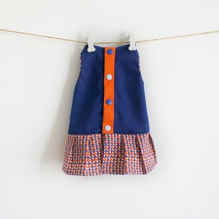 Can be customized. Orange cloud pet clothes in the blue sky
