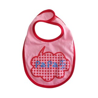 CLARECHEN baby vocal bib _papa to the version _ little red pink