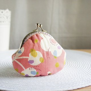 Lovely cherry flower gold coin purse, white flower foundation
