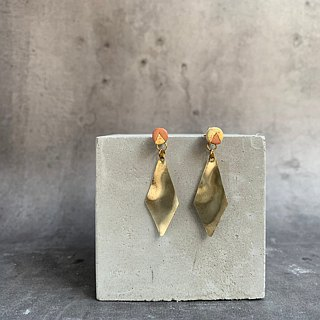 Fallen leaves - Natural Brass Deciduous Leather Earrings