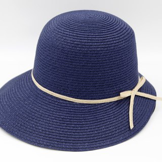 [Paper cloth home] Hepburn hat (dark blue) paper weave