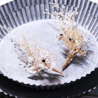Starry sky hand made bridal headdress two pieces in stock