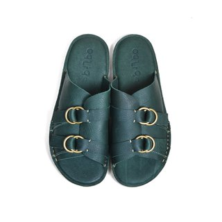 oqLiq - Root - Buckle Slippers (Green)