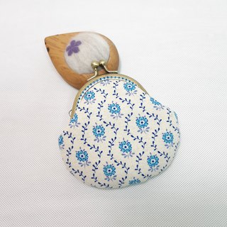 Blue small mouth gold bag / coin purse / storage bag
